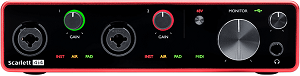 FOCUSRITE Scarlett 414 3rd Generation Audio Interface (Front view)