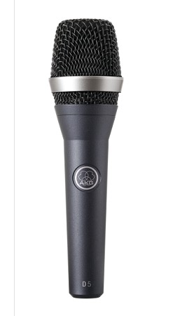 AKG D5 Professional Dynamic Vocal Microphone (Front view)