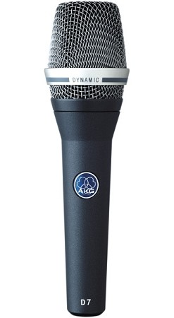AKG D7 Reference Dynamic Vocal Microphone (Front view)