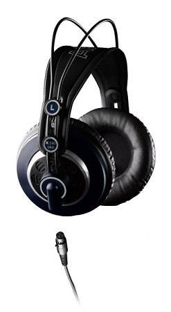 AKG K240 MKII Professional Studio Headphones (Side view)