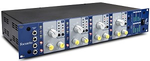 FOCUSRITE ISA 428mkII-Pre-Pack Four-Channel Mic Pre-Amplifier (Front Angle view)