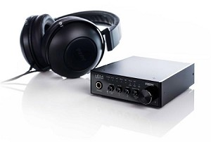 FOSTEX HP-A4 24bit DAC Headphone Amplifier (Front Angle view- Headphones excluded)