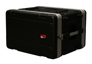 Gator GR-6S Shallow 6U Audio Rack (Front Angle view- Closed)