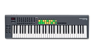 NOVATION LaunchKey 61 Performance Controller Keyboard-61 keys, (Overhead view)