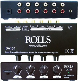 Rolls DA134 Distribution Amplifier (Front Back and Top views)