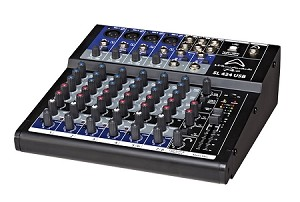 WHARFEDALE PRO SL424USB Compact studio/live mixing console (Front Angle view)